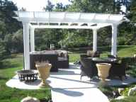Freestanding PergolaNo-Taper Round Columns