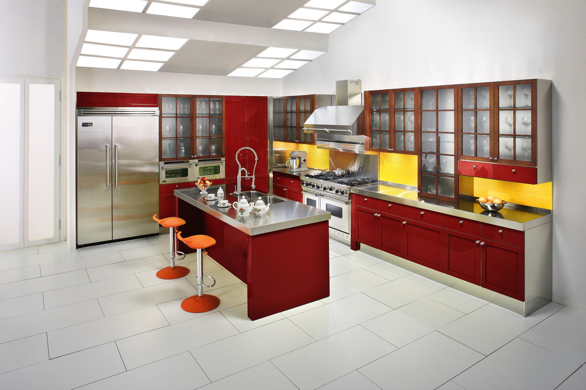 Cambridge arca cucine italia cucine in acciaio inox - Maniglie cucina acciaio ...