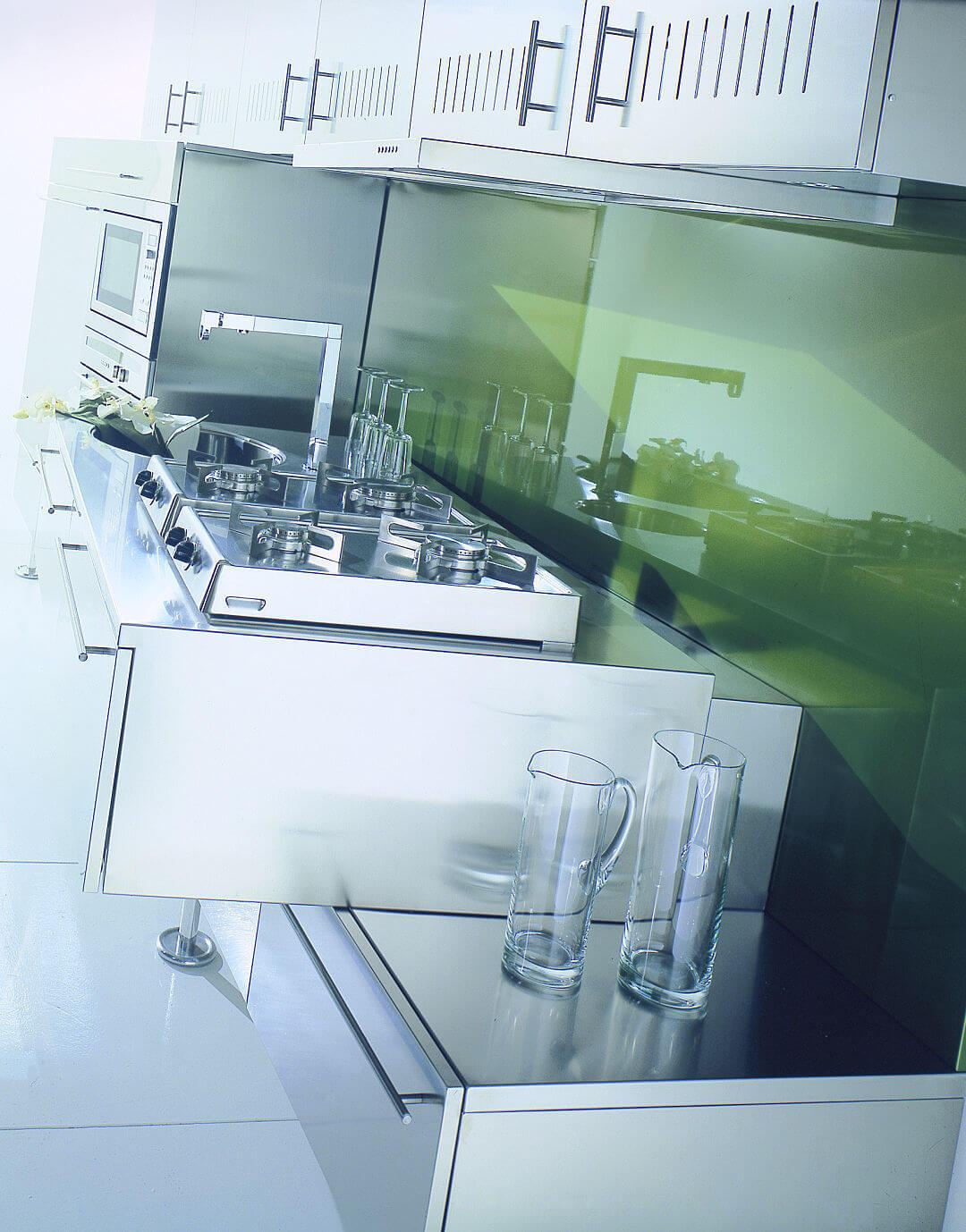 Arca Cucine Italia - Cucina in Acciaio Inox su misura - Piano Cottura