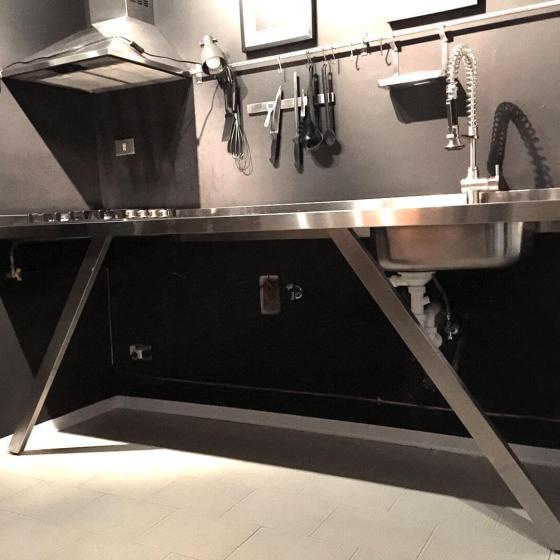 Arca Cucine Italia - Cucine Domestiche Acciaio Inox - Su Misura