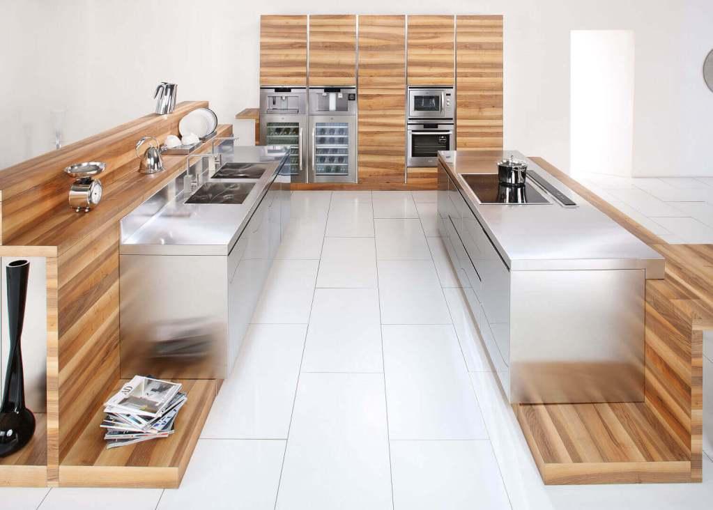 Arca Italian Kitchen - Kitchens Milf Stainless Steel - 16 - Open - 0001