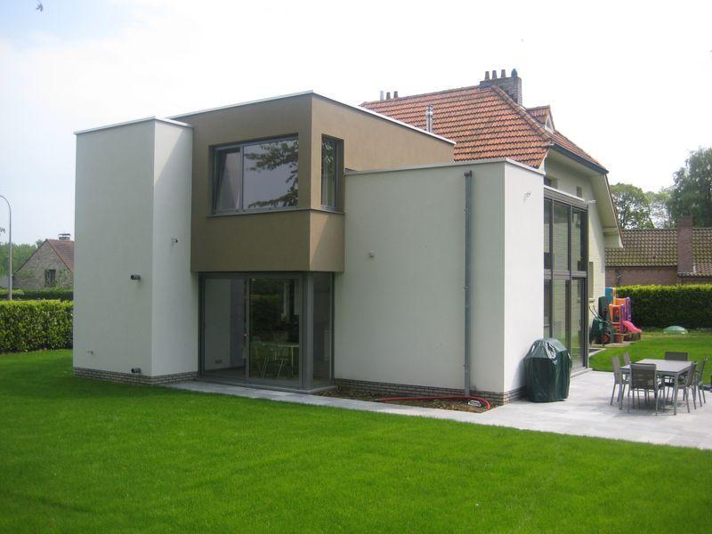 Extension contemporaine d 39 une villa dilbeek herv vanden haute - Verriere dak ...