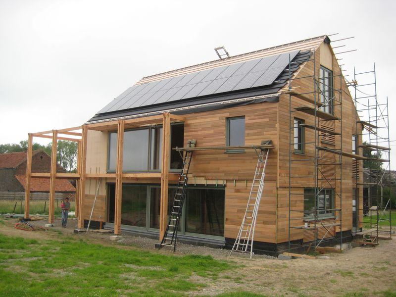 Maison très basse énergie à structure bois à Jodoigne