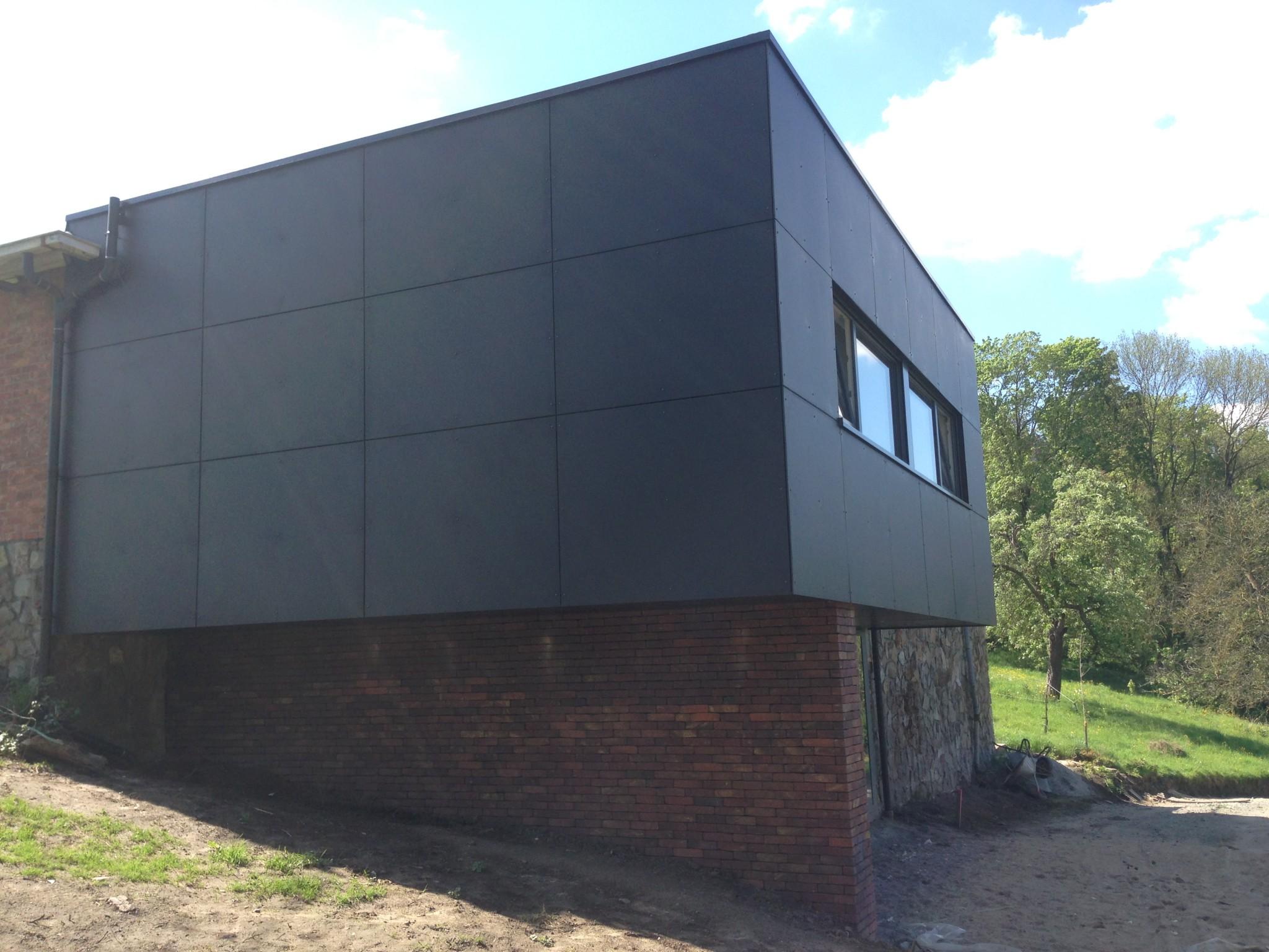 Tilklin brice architecte liège annexe ossature bois bureau d