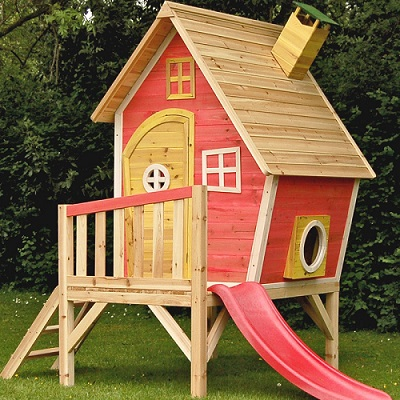 Bright colours make the playhouse vibrant and attractive.