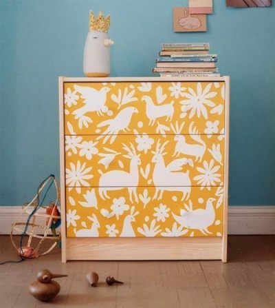 25 Amazing DIY Furniture Makeovers With Wallpaper