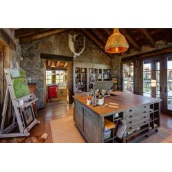Calmly 15 Motivational Rustic Home Office Designs That Will Inspire You 8 Rustic Industrial Home Office Rustic Home Office Photos