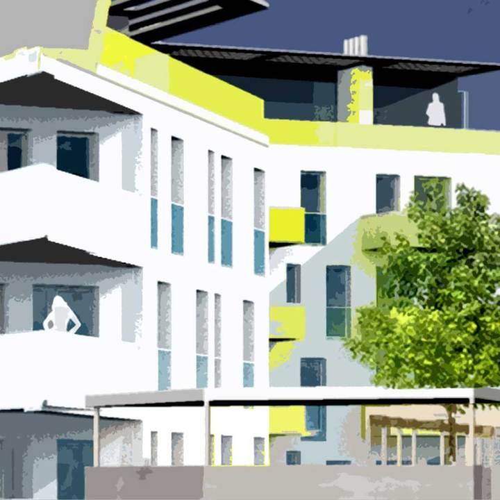 Architekt Gutmann - Sozialer Wohnbau - Wohnhausanlage Tulln