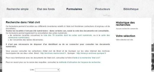 Tables décennales du Finistère