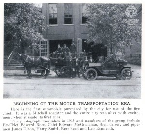 Wheeling Fire Dept: Beginning of Motor Transport