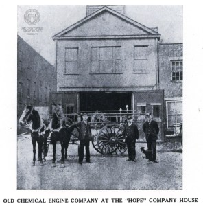 Horse drawn pumpers like these were replaced with motorized trucks thanks to the experience of the House & Herrmann fire.