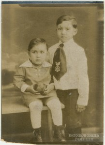 Everett and his younger brother, Kenneth. -Photograph courtesy Everett Lee III