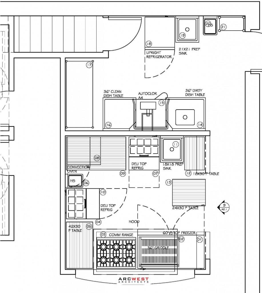 plimoth restaurant design commercial kitchen design Plimoth Commercial Kitchen Design by ArcWest