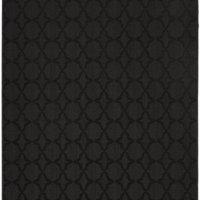 Garland Rug Sparta Area Rug, 7-Feet 6-Inch by 9-Feet 6-Inch, Black