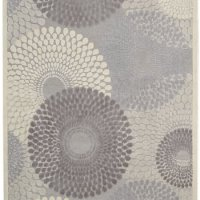 """Nourison Graphic Illusions (GIL04) Grey Rectangle Area Rug, 5-Feet 3-Inches by 7-Feet 5-Inches (5'3"""" x 7'5"""")"""