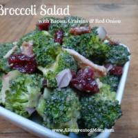 Broccoli Salad with Bacon, Craisins and Red Onion