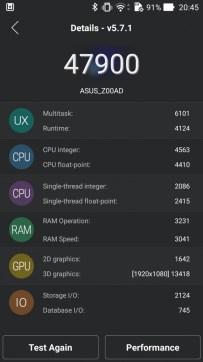 ASUS ZenFone 2 - benchmark - AnTuTu