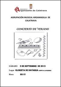 Argamasilla podrá despedir agosto con un concierto de verano interpretado por la agrupación musical