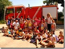 20160819 Foto de familia en el parque de bomberos de Puertollano