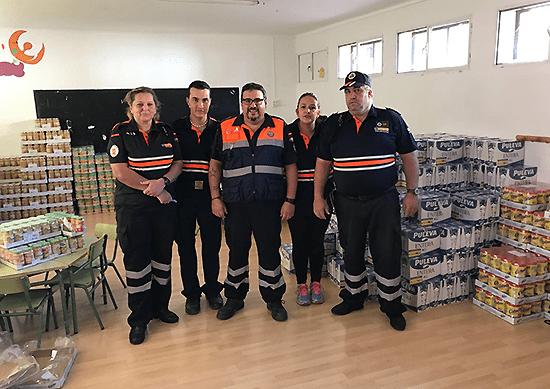 Ayuntamiento y Protección Civil canalizan otros 4.414 kilos de alimentos procedentes del Banco de Alimentos de Ciudad Real