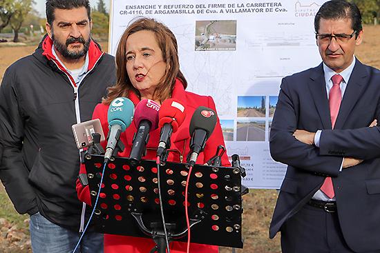 Monroy agradece a Diputación y a su presidente el apoyo a los pueblos durante la puesta de largo de la carretera CR-4116 hasta Villamayor