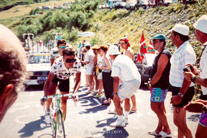 Tour de france 1990 - Luz Ardiden Thierry Claveyrolat