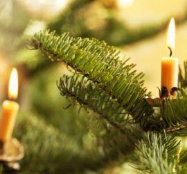 albero di natale, candeline