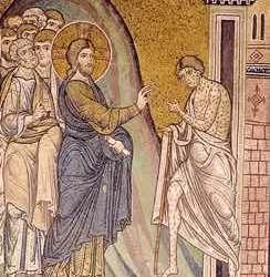 La guarigione di un lebbroso - Duomo di Monreale - Palermo]