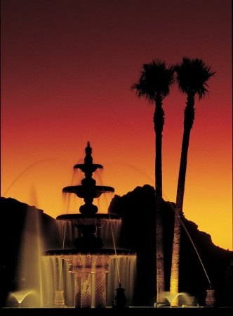 Scottsdale Plaza Resort Fountain at Sunset