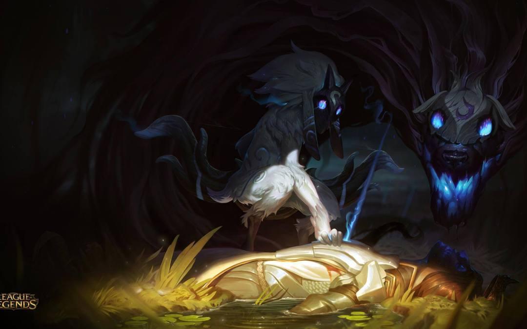 "Campeón revelado de League of Legends ""Kindred, los Cazadores Eternos""."