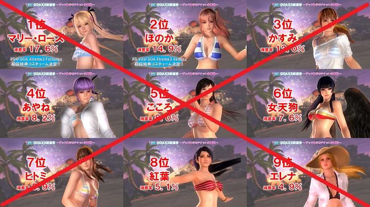 Dead or Alive Xtreme 3 no saldrá de Japón