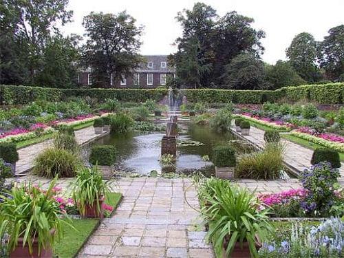 jardin ornamental del Palacio Kensington