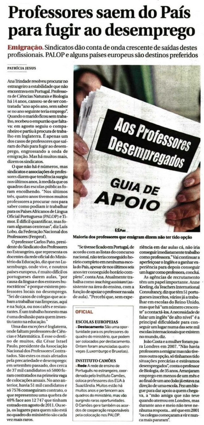 DN professores saem do país
