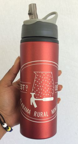 Red Metallic Water Bottle