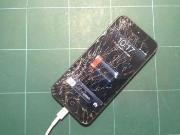 iPhone 5-ի դեպքում ճաքը պետք է երևա էկրանի մակերեսի ոչ պակաս քան 60%-ի վրա