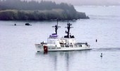 The author argues that the Coast Guard needs two more multi-mission Legend-class ships to replace decades-old WHEC vessels such as Coast Guard Cutter Mellon (WHEC 717), seen here off Kodiak, Alaska. (USCG photo)