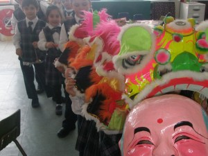 ASA students celebrating the Chinese New Year.