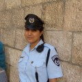An Israeli policewoman