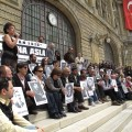 Genocide commemoration at the Haydarpasha Station in Istanbul on April 24, 2010 (Photo by Mujgan Arpat)
