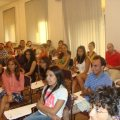 The Hamazkayin Forum students during a lecture.