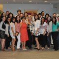 Vera Setrakian (Center), wife of AGBU President Berge Setrakian, with author Margaret Ahnert, surrounded by the participants of the 2010 New York Summer Intern Program.