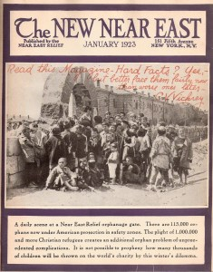 Cover of the New Near East Magazine January 1923 235x300 Cuba, China, Korea, Hawaii and the Armenian Genocide
