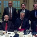 Representatives of the ARF and the Armenian Weekly with the Most Reverend Manuel Batakian and the the Most Reverend Mikael Mouradian.