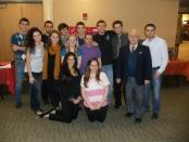 The Rutgers Armenian Students Association members with Dr. Vassilian in the front right.