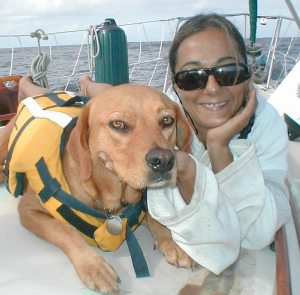 Christine and kia 1 2 300x295 An Interview with Sailor and Writer Christine Bukruian