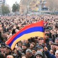 Thousands gathered at Freedom Square in Yerevan on Feb. 22. (Photo by Khatchig Mouradian, The Armenian Weekly)