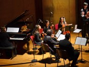 An international ensemble performs the winning pieces from the AGBU Sayat Nova International Composition Competition at a concert organized by AGBU France in Paris's prestigious Salle Cortot.