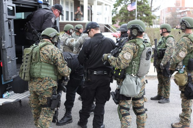 Nanore pic SWAT team preparing for door to door searches across the street from Baikar 2 1024x682 Watertown Family Describes Minutes Leading to Dzhokhar Tsarnaev's Arrest