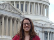 ANCA Eastern Region Executive Director Michelle Hagopian on Capitol Hill