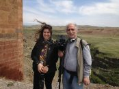Nubar and Abby Alexanian during a recent trip to Historic Armenia. (Photo by Sona Gevorkian)